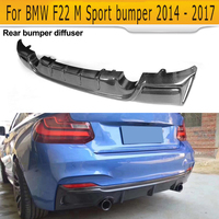 2 Series Carbon Fiber Car Rear Bumper Diffuser Lip Spoiler for BMW F22 M Sport Coupe 14 17 Convertible Black FRP M235i M240i