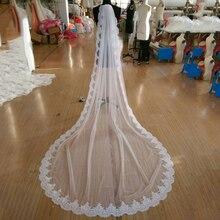 2018 Nuovo Caldo di Alta Qualità Francia Pizzo Appliques Bordo In Pizzo Bridal Veil Mantilla con Pettine Velo Da Sposa Veli Da Sposa accessori