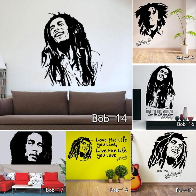 Bob marley quotes wall sticker vinyl wall decals quotes for Inspiratinal bob marley wall decals