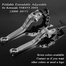 Aluminum Motorbike Levers Motorcycle Brake Clutch Foldable Extendable Adjustable For Kawasaki VERSYS 300X 2008-2017