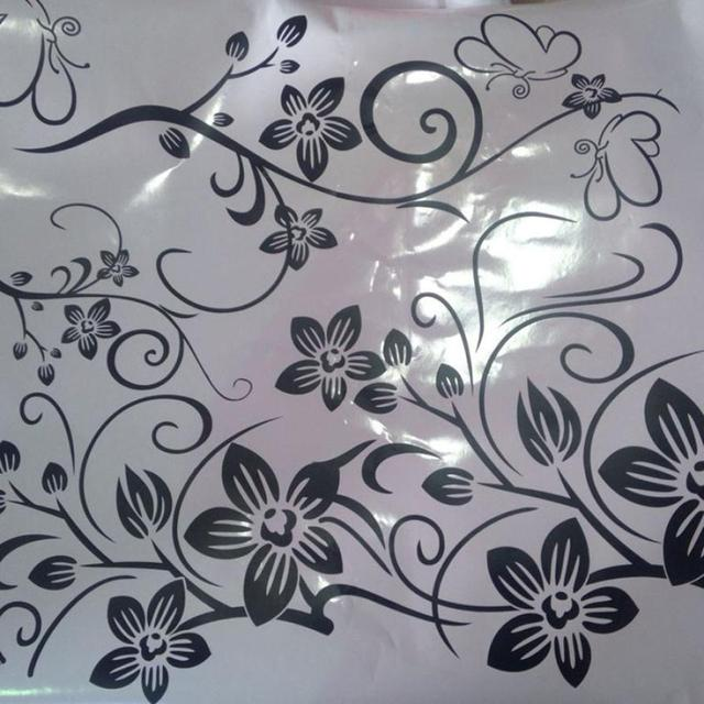 Flowers and Vine Wall Sticker
