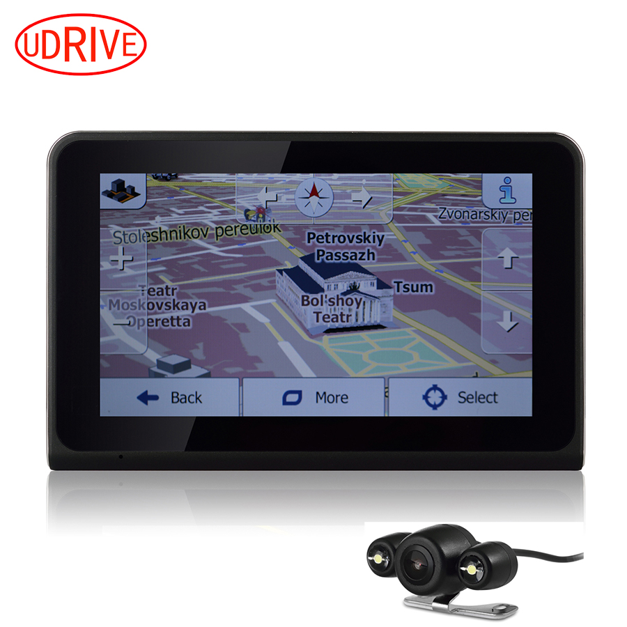 Udrive 7 inch gps wifi android car truck vehicle gps navigation dvr video recorder rear view