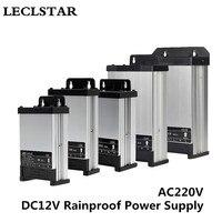 12В светодиодный наружный источник питания с защитой от дождя DC 12 вольт 60 Вт 100 Вт 200 Вт 250 Вт 400 Вт СВЕТОДИОДНЫЙ Драйвер Трансформаторы освещен...
