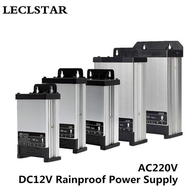 12V LED Outdoor Rainproof Power Supply DC 12 Volt 60W 100W 200W 250W 400W LED Driver Lighting Transformers AC176-235V