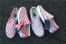43de027e2dc66c 2018 Summer VANS SLIP ON Wine Red Rose Two Color Checkerboard Slipper Shoes  VN0A38F7QTH TG