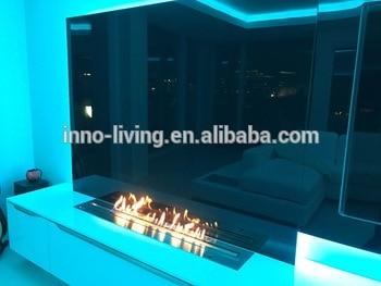30 Inch L Intelligent Wifi Silver Or Black Modern Eletric Ethanol Remote Control For Fireplace