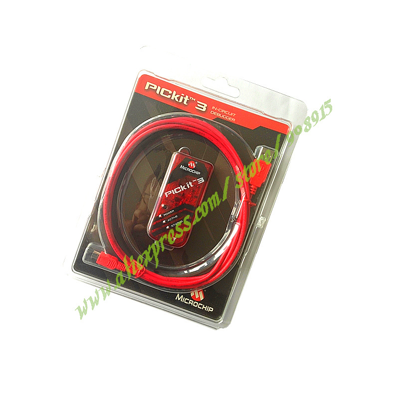Free Shipping Original PICkit3 Microchip MPLAB PICkit 3 PIC In-Circuit Programmer Debugger For PIC And DsPIC Flash Chips