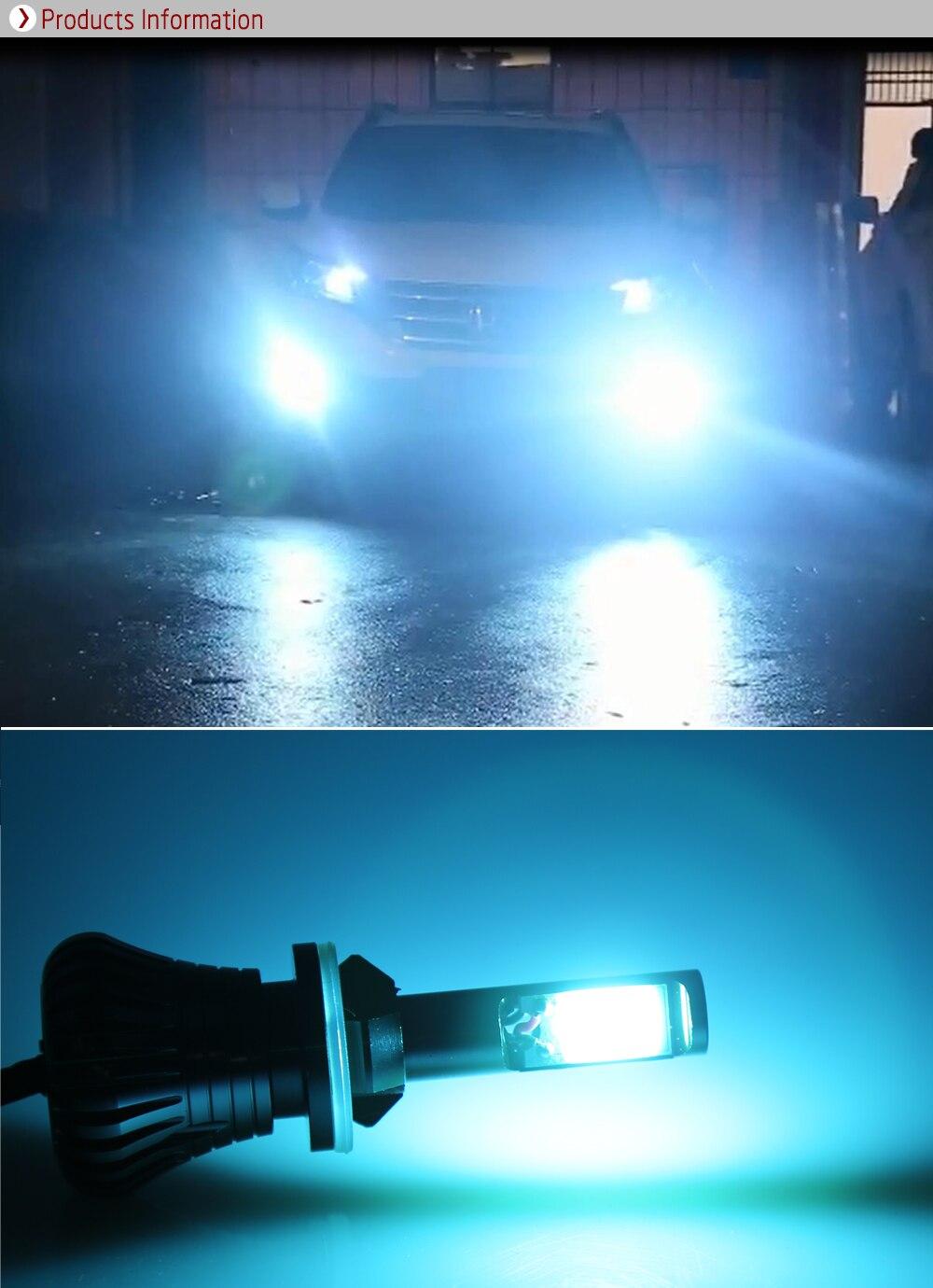 2X New Flash LED Bulbs H3 80W Strobe Car Fog Driving Light Lamp Ice Blue