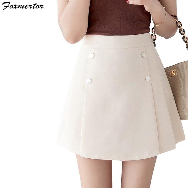 Brand Women Fashion Summer high waist pleated skirt Wind Cosplay skirt kawaii Female Mini Sexy Skirts Short Under saia feminina