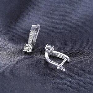 Image 3 - JewelryPalace 1ct клип серьги стерлингового серебра 925 Свадебные Юбилей украшения для Для женщин модные вечерние подарок 2018 Лидер продаж