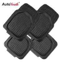 AUTOYOUTH Car Floor Mats For Toyota 2017 New Arrival Rubber Universal Black Front Rear Car Floor