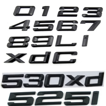 ABS 3D Auto Car Emblem Badge Rear 0 1 2 3 4 5 6 7 8 x d i Logo Sticker For BMW E46 E90 E60 E53 F30 F10 F20 1 2 3 4 5 6 7 Series image