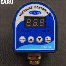 "1 unid WPC-10 Digital Interruptor de Presión de Agua WPC 10 Eletronic Pantalla Digital Regulador de Presión para la Bomba de Agua Con G1/2 ""Adaptador"