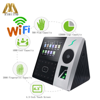 New Arrival ZK Pface202 Face And Palm Time Attendance 1200 Face Capacity Fingerprint And Card Reader Access Control With WIFI