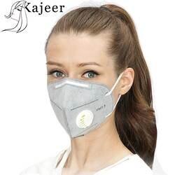 Унисекс из 2 предметов Вертикальные складной нетканый с клапаном активированный уголь анти-туман пыли многоразовые маски PM2.5 респиратор