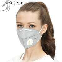 2Pcs Unisex Vertikale Falten Vlies Ventilen Aktivkohle Anti Nebel Staub Wiederverwendbare Masken PM2.5 Atemschutz Mode Mund Maske
