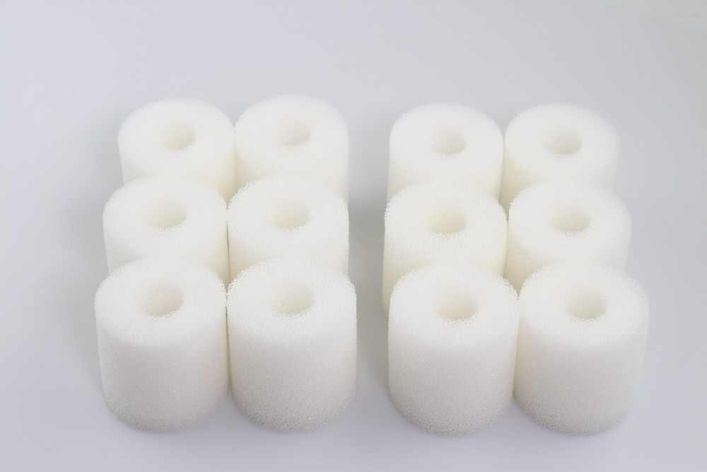 Paquet de 12 Biopower 160//200 240 LTWHOME Compatible Mousse de Filtre Convient pour Eheim 2618060 Cartridges Aquaball 45//2206