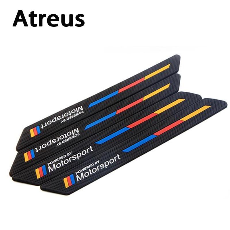Us 126 30 Offatreus 4pcs Car Styling Anti Collision Strip Bumper Car Crash Stickers For Bmw E46 E39 E90 E60 E36 F30 F10 E30 E34 X5 E53 In Car