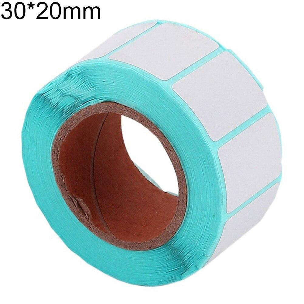 Новое поступление 1000 шт/рулон 30x20 мм самоклеющиеся термоэтикетки штрих-кодов наклейки бумага для печати