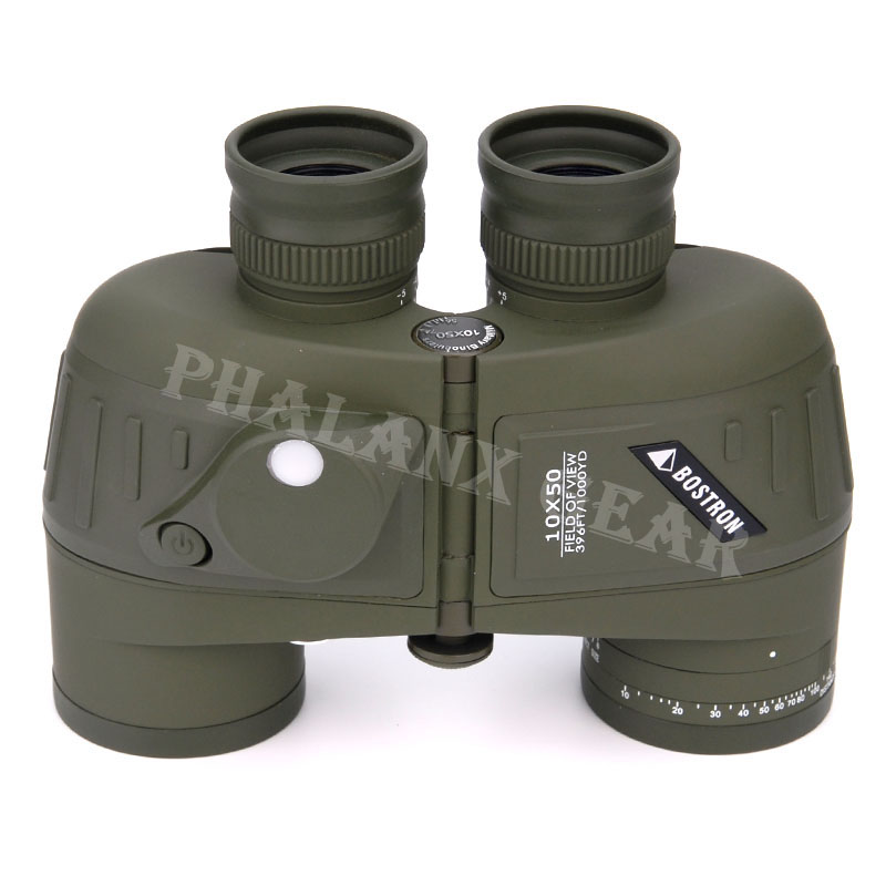Military night war game Tactical Hunting outdoor sports floating binoculars scope 10x50 w/ COMPASS Scale