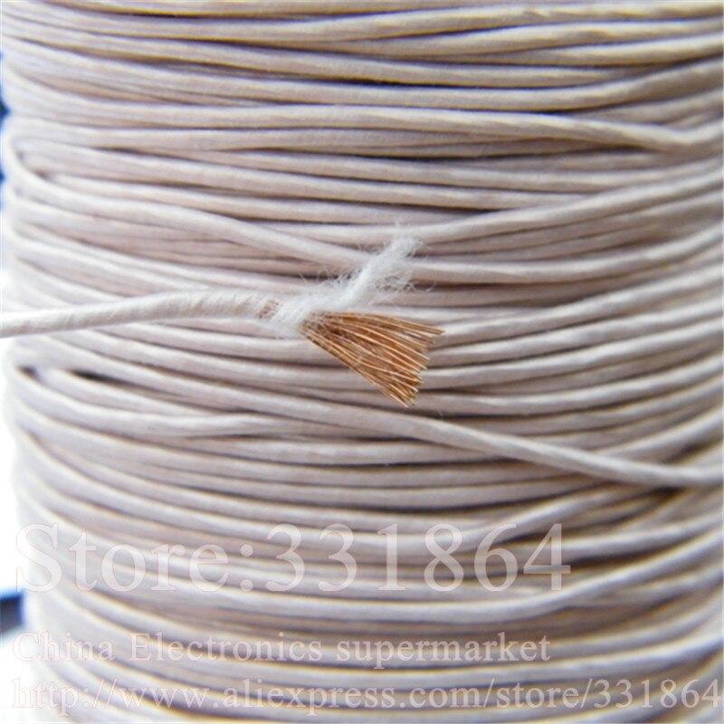цена на ,Multi-strand polyester silk envelope braided multi-strand wire 3.6mm 0.1mmX700 strands,(5m /pc) Mine antenna Litz wire