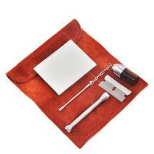 Портативный натуральная кожа мешок для табачных мешков+ Табак BulletSnorter инструмент анализатора соломы гудок Гувер сумка трубы Чехол карман