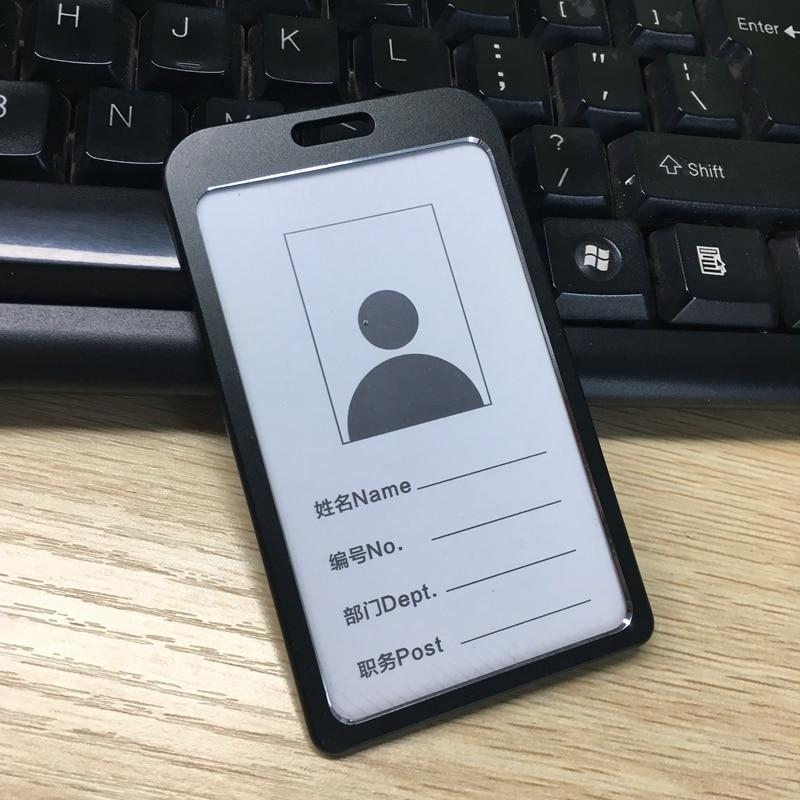 50 pcs étiquette porte badge de carte d'identité travail pour carte et certificat en aluminium boîtier en métal-in Porte-badges et accessoires from Fournitures scolaires et de bureau    1