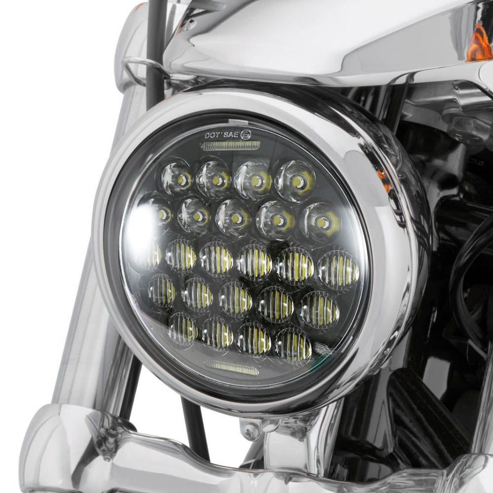 Home Kind-Hearted Lykas 5.75 Inch Led Headlight For Motorcycle Harley Davidson Sportster Triple Low Rider Wide Glide Headlamp Projector