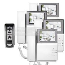 DIYSECUR 4.3 pulgadas 800×480 HD de Pantalla Video de La Puerta Teléfono Puerta de Intercomunicación de vídeo + 600 420tvline IR Visión Nocturna Al Aire Libre cámara