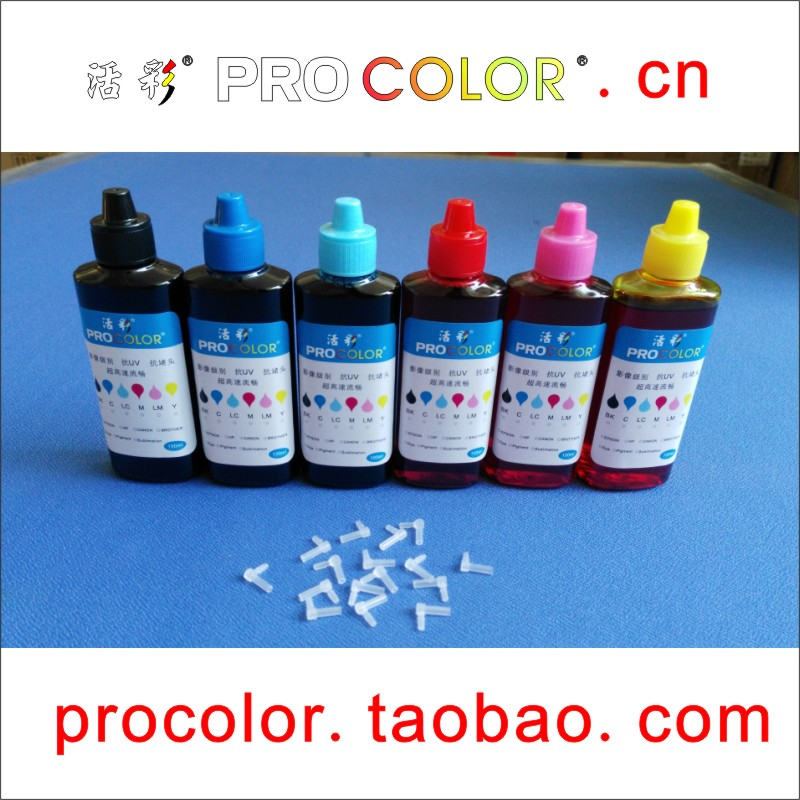 PROCOLOR Best photo Quality ink CISS ink Refill cartridge photo studio ink universal dye ink for EPSON 6 color inkjet printer