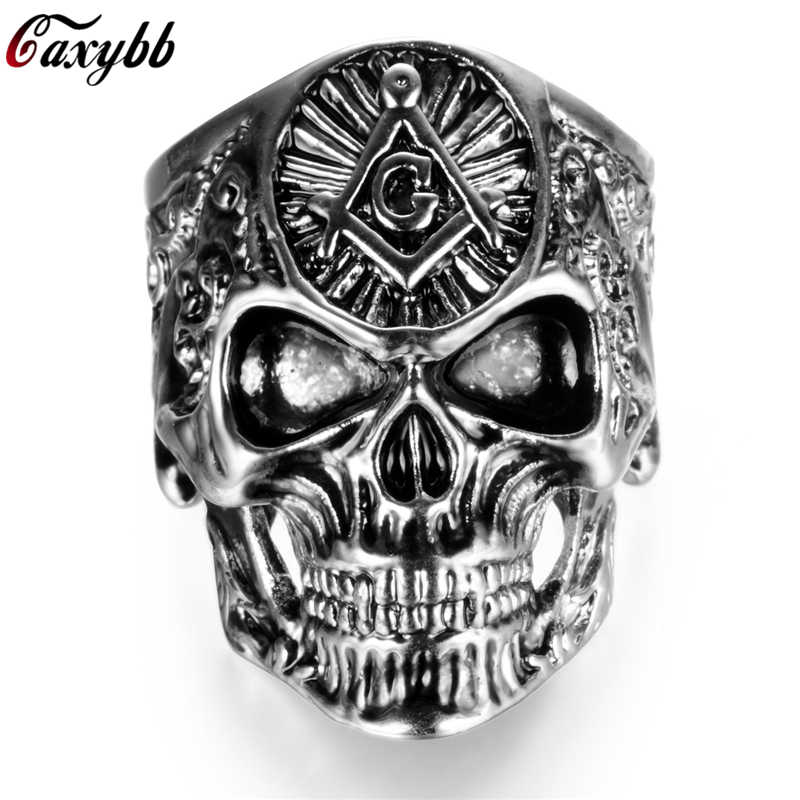 54e617c837eff Detail Feedback Questions about HNSP Masonic Skull Ring For Men ...