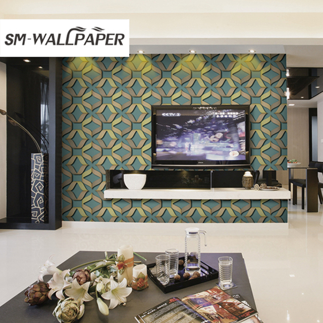 new design pvc vinyl fabric household wallpapers modern 3d wall