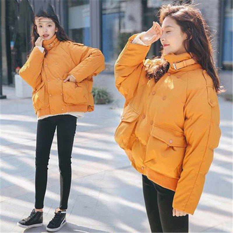 yellow Hiver Nouvelle Vêtements Parka Survêtement Veste Black Pain Lâche Femmes khaki N106 Épais Manteau Rembourré Grande Court 2018 Coton coréen Taille 6vqw0YBwH