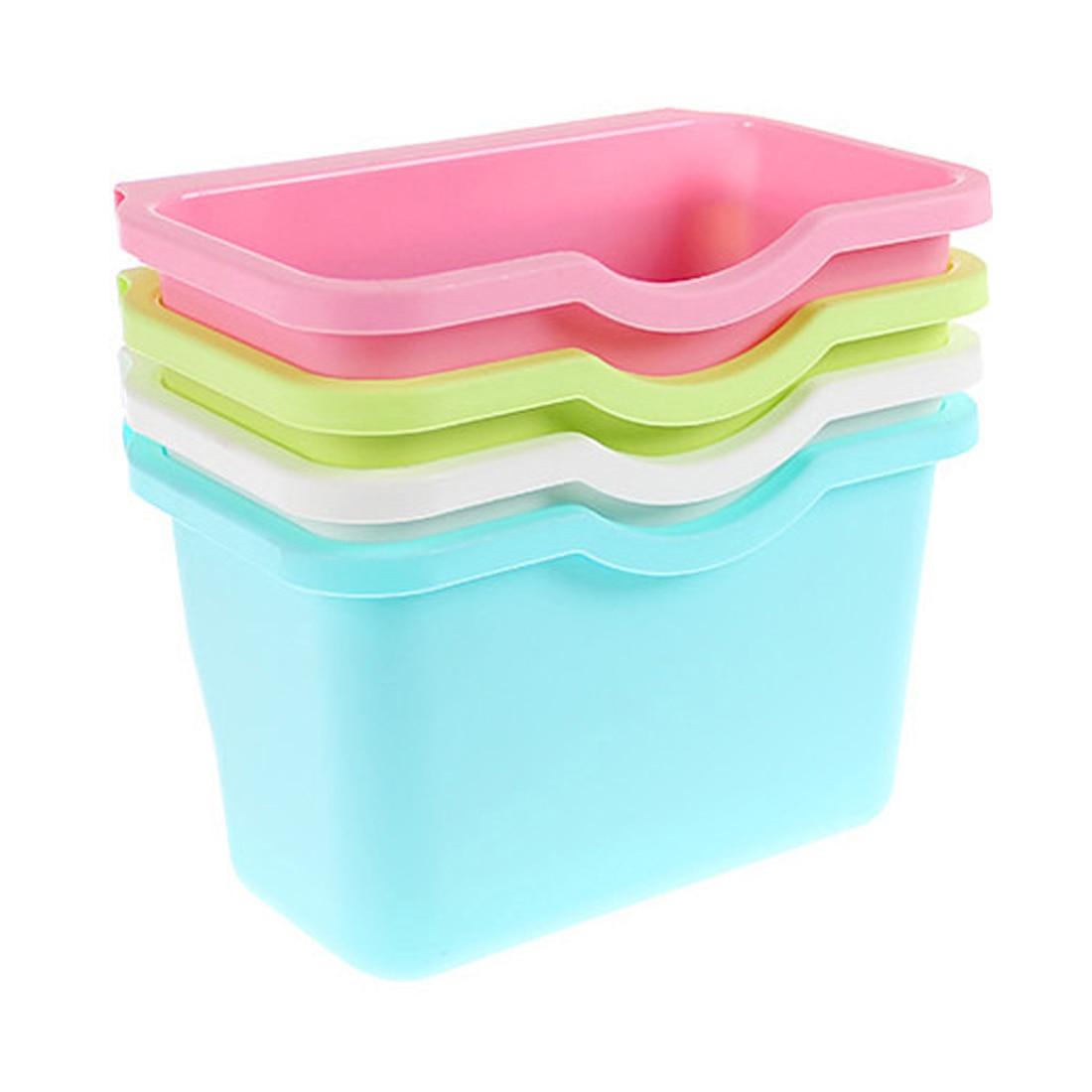 Delicate plastic kitchen storage box portable mini trash bin desktop ...