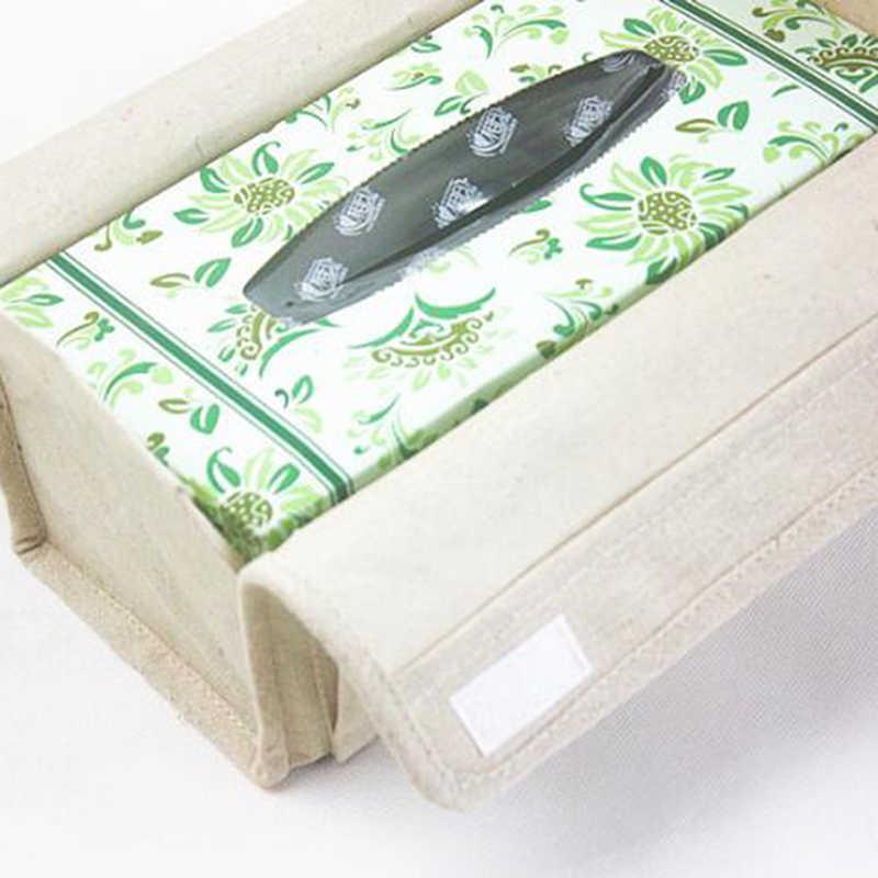 Cotton Linen Storage Box Debris Remote
