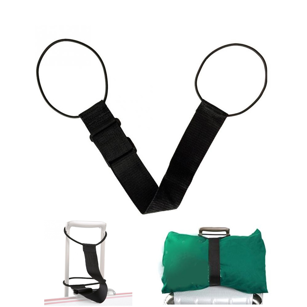 Portable Strong Black Travel Nylon Portable Luggage Strap Suitcase Packing Fixed Belt Adjustable Security Accessories