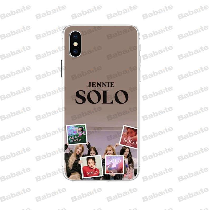 Babaite solo JENNIE สีดำสีชมพู Novelty Fundas โทรศัพท์กรณีสำหรับ iPhone X XS MAX 6 6s 7 7plus 8 8Plus 5 5S SE XR