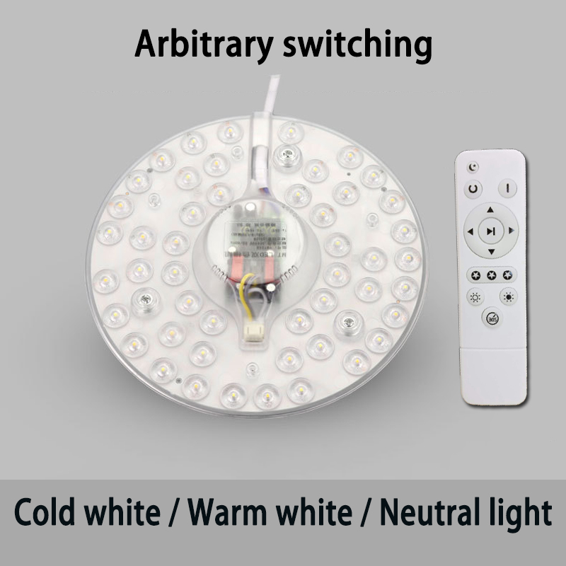 Remote control Replaceable LED Light Source For Ceiling Three color 40W 50W 60W 185V 240V With Remote control Replaceable LED Light Source For Ceiling Three color 40W/50W/60W 185V-240V With Magnet Led Lights Replacement