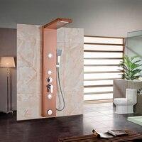 Golden Rose Ванная комната душевая колонна кран настенный одной ручкой душ Панель Ванна Нажмите струй блок