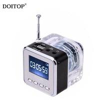 DOITOP USB 2 0 Micro USB Color LED Display Mini Loudspeaker SRS Surround Sound Speaker MP3