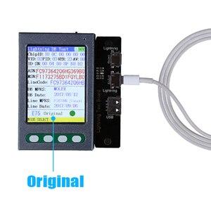 Image 5 - USB kablosu test cihazı pil test cihazı iPhone XS için XR XS Max X 8 8P 7 7P 6S 6 6S P 5 5S pil denetleyicisi veri kablosu test cihazı temizle döngüsü