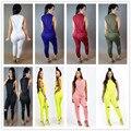 New women fashion elegant 2016 sleeveless solid jumpsuit rompers women long jumpsuit sexy club wear