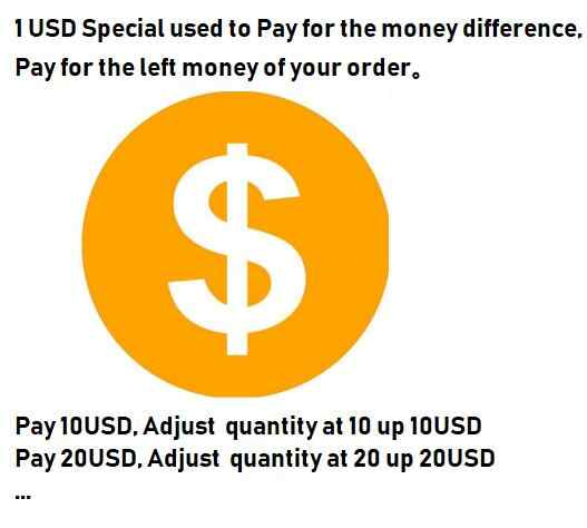 1USD Special used to Pay for the money difference, Pay for the left money of your order