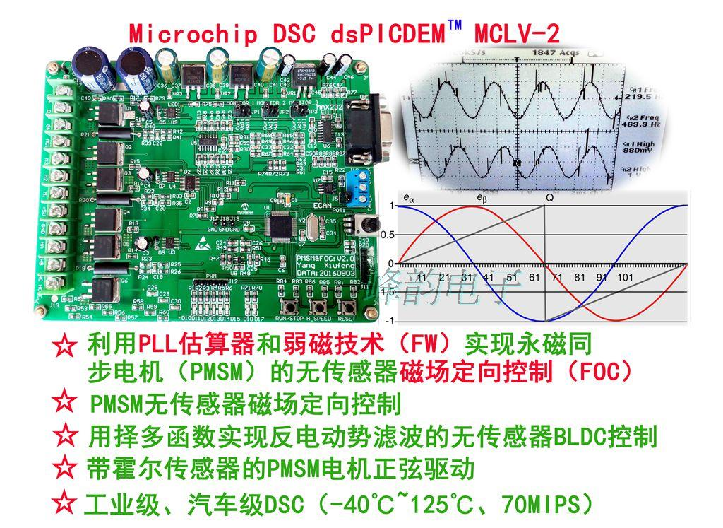 Permanent Magnet Synchronous PMSM Motor FOC Vector Control Development Board BLDC Development Board MCLV-2 DM330021-2