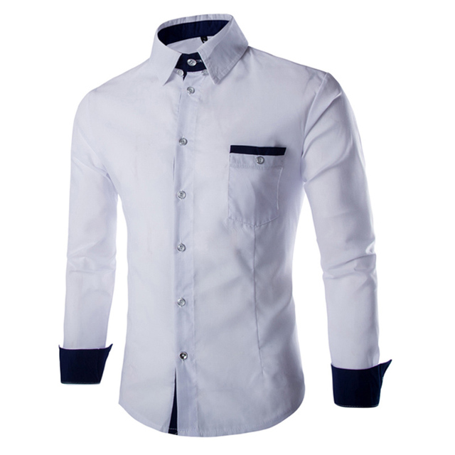 new arrive 2016 spring mens business shirt heigh quality slim fit full sleeve shirts solid mens shirts 13CS17