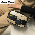 Women Messenger Bags Luxury Handbag Personality Unique Bag Mini Flap Clutch Camera Shape Shoulder Bag Girls' Fashion Chain