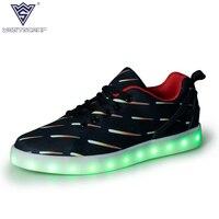 Men LED Shoes Man Casual Shoes Fashion Luminous LED Shoes Spring Autumn USB Charging Colorful Zapatillas