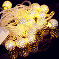Silver Moroccan Orb LED Fairy Lights with 20 Warm White/ Multi Color Leds, Ambiance Lighting Party Bedroom Decor (3.5m)