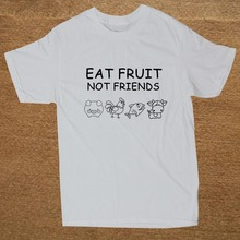 EAT FRUIT NOT FRIENDS Men's T-Shirt / 9 Colors