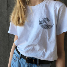 The Great Wave T-shirt Grunge Tumblr Tee Harajuku Cute Short Sleeve Cotton T-shirts